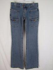 Blue Asphalt Juniors Womens Cotton Blend Flare Jeans sz 7