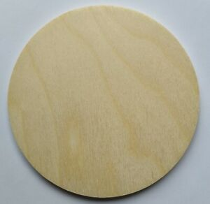 10,5cm Wooden Natural Plain CIRCLE Craft Blanks Coasters Crafting Discs DIY
