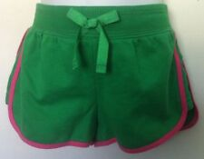 Ralph Lauren Shorts~Solid Green Body~Pink Trim~Large Navy Logo~Size 4T~NWT