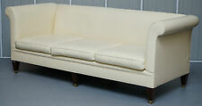 RRP £10,000 FULLY RESTORED RALPH LAUREN BROMPTON 3 - 4 SEATER LEATHER SOFA