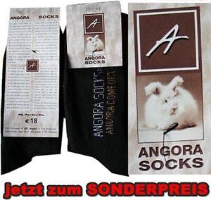 Posten Angora Socken Damen Herren Schwarz Warme Geschäftsaufgabe 41-43  108€ VK