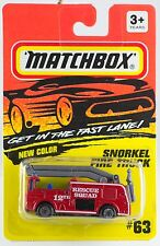 Matchbox MB 63 Snorkel Fire Truck White Rescue Squad Tampo New On Card 1995