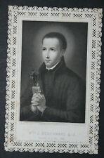 Image pieuse dentelle canivet holy card lace Saint Berchmans Fin XIXème