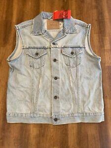 Vintage NWT Men's  Levi's 70517-0311 Denim Trucker Vest Jean Jacket NEW