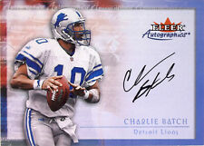 2000 Fleer Tradition Autographics Detroit Lions Football Card #10 Charlie Batch