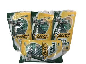 New 4 Packs Of 10 Bic Twin Select Twin Blade Shavers Razors 40 Total Razors) Men