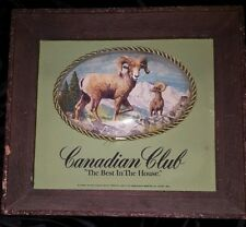 Vintage Canadian Club Advertisement With Ram