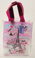 Claire's Pink Paris Reusable Tote Girls Gift Bag Sparkle Eiffel Tower New