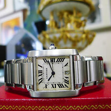 CARTIER TANK FRANCAISE Stainless Steel REF:2302 Automatic MENS WATCH