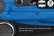Bleu cuir véritable 2X Poignée De Porte Couvre Pour Chrysler Crossfire 03-08 Style 2