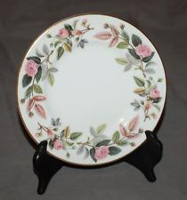 "One 6"" Bread Plate Wedgwood Hathaway Rose Good Shape"