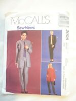 Vintage 2000 Sewing Pattern Jacket-Top & Pull on Pants Size 12-14 Uncut