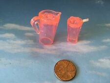 BARBIE BRATZ MONSTER HIGH DOLL HOUSE DIORAMA PITCHER PINK LEMONADE? ICY DRINK