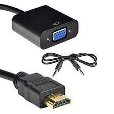 HDMI A VGA Adattatore digitale ad analogico Audio Converter Cavo Per PC Laptop TV
