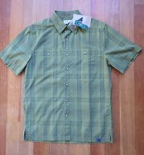 LL Bean Shirt Men's Small Quick Dry Plaid Cedar Green Otter Cliff 4 available