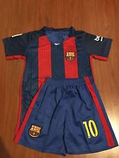 Barcelona Jersey Red & Blue 2017  And Shorts Kids Set Youth #10 Messi Kids Set