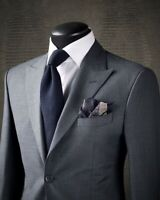 Men Gray Groom Tuxedos Suit Formal Dinner Wedding Party Prom Suit Custom