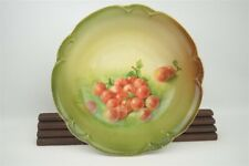"""New listing Vintage Charlotte Bavaria Hutschenreuther Hand Painted Cherries Fruit Bowl 9.5"""""""