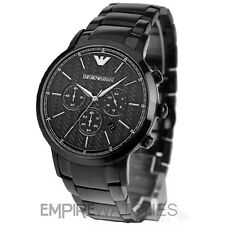 *NEW* MENS EMPORIO ARMANI BLACK ION PLATED WATCH - AR2485 - RRP £399.00