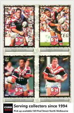 2000 Select NRL Inaugural Card Base Team Set SYDNEY CITY ROOSTERS(9)