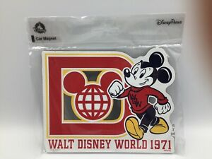 MICKEY MOUSE - RETRO WALT DISNEY WORLD 1971 - LARGE MAGNET - DISNEY PARKS - NEW