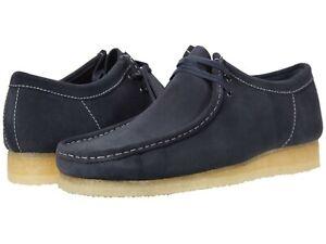 Men's Shoes Clarks Originals WALLABEE Lace Up Suede Moccasins 54744 INK