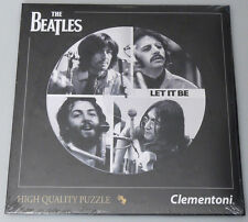 (PRL) THE BEATLES 4 FAB PUZZLE TOY 212 PZ REAL LP SIZE COLLECTION PHOTO 21402