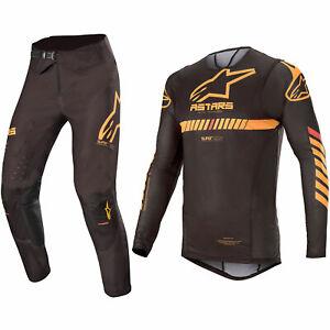 ALPINESTARS SUPERTECH MOTOCROSS MX KIT PANTS JERSEY - BLACK / ORANGE / RED