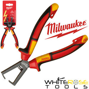 Milwaukee VDE Wire Stripping Pliers 160mm Electrical Cable Strippers Insulated