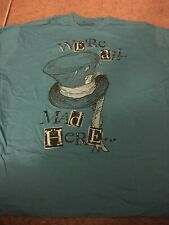 Disney Alice In Wonderland Adult 2XL XXL Shirt Mad Hatter We're All Mad Here
