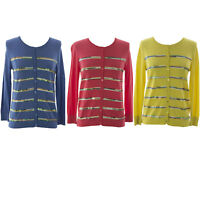 August Silk Women/'s Petite Textured Single Button Cardigan NWT $68