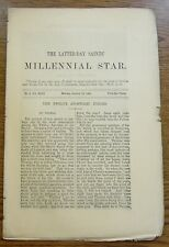Millennial Star Mormon January 10, 1881 The Latter-Day Saints' Newspaper Uncut