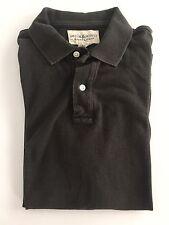 RALPH LAUREN Denim & Supply Mens Grey Flag Patch Polo Shirt Size Medium M