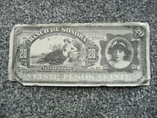 MOVIE PROP MONEY - BANCO DE SONORA 20 PESOS BANKNOTE