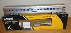 "K-LINE K4630-42921 SANTA FE SF ALUMINUM PASSENGER 21"" COACH CAR O SCALE TRAIN"