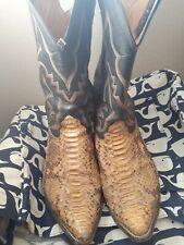 Vintage Nocona Snakeskin Cowboy Boots Giant Scale Snake Anaconda 13 EE