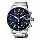 NEW CITIZEN Crono Aviator Mens Eco Drive Chronograph Wrist Watch with Box