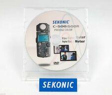 SEKONIC C-500 / C-500R COLOR METER INSTRUCTION + DVD (ORIGINAL PRINT JAPAN)