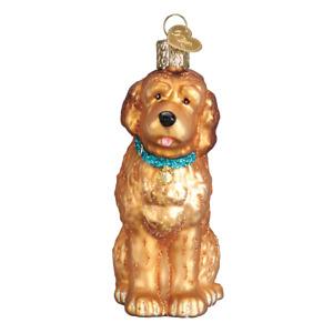Old World Christmas IRISH DOODLE (12528)N Glass Ornament w/ OWC Box