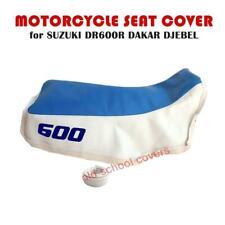 MOTORCYCLE SEAT COVER SUZUKI DR600 DR 600 DAKAR DJEBEL MID BLUE & WHITE