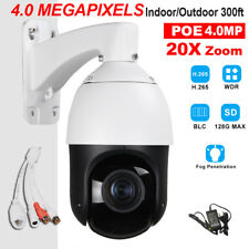 CCTV H.265 POE 4MP High Speed PTZ Camera HD IP IR 100M 20X Zoom ONVIF Audio In