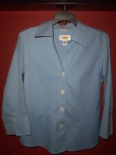 Talbots Wm's size 4 Blue Button Down Career Shirt worn once