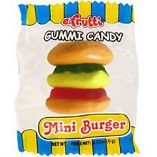 20 COUNT EFRUTTI GUMMY MINI BURGERS FRUIT FLAVORED CANDY PARTY FAVOR GOODY BAGS
