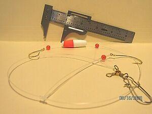 3 Saltwater Bottom Rigs - Fluke & Sea Trout - #2/0 Wide Gap Hooks - Hand Tied !!