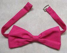 Rose Chaud Brillant PUSSY Bow Tie Vintage Rétro 1980 S Punk Femme Mode
