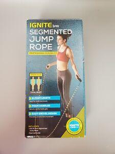 Spri Ignite Segmented 9 foot Jump Rope Black & Yellow New open box