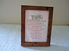 """Vintage The Ten Commandments In Standing Picture Frame """" BEAUTIFUL ITEM """""""