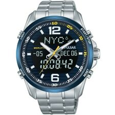 Pulsar Gents Chronograph World Time Watch PZ4003X1 NEW