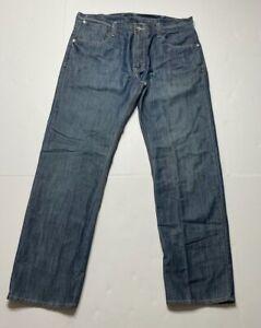 Levis Mens 514 Slim Fit Straight Leg Jeans Blue Medium Wash 5 Pocket 38 X 32