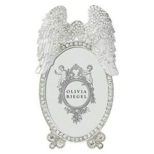 """OLIVIA RIEGEL ANGEL WINGS 2.5X3.5"""" PHOTO FRAME RT0165.NEW IN BOX"""
